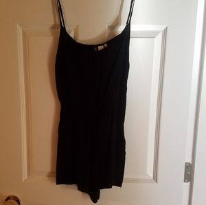 Divided h&m black romper with triangle cut out